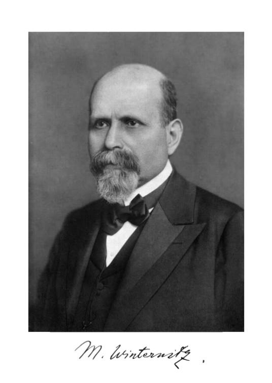 Prof. Moriz Winternitz